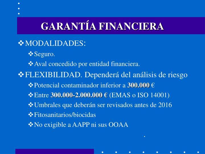 GARANTÍA FINANCIERA