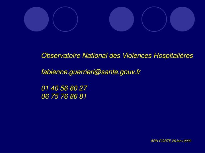 Observatoire National des Violences Hospitalières