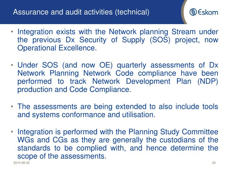 Assurance and audit activities (technical)