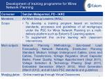 development of training programme for wires network planning