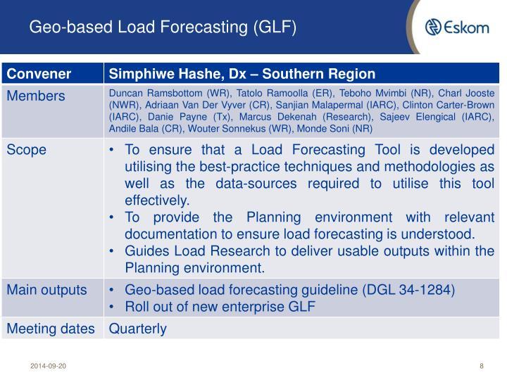 Geo-based Load Forecasting (GLF)