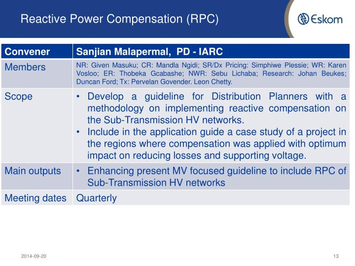 Reactive Power Compensation (RPC)