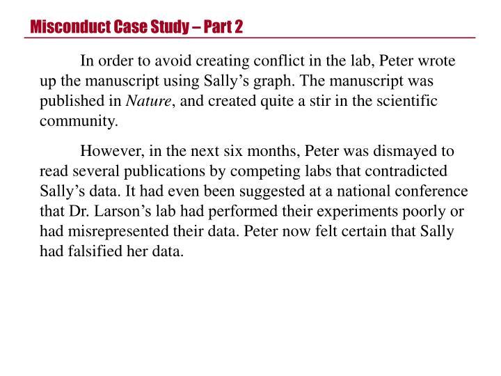 Misconduct Case Study – Part 2