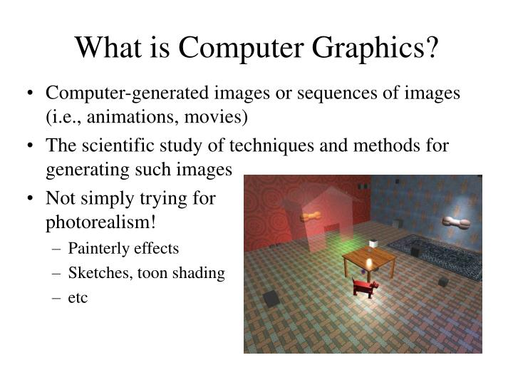 What is Computer Graphics?