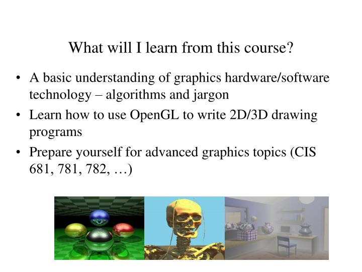 What will I learn from this course?