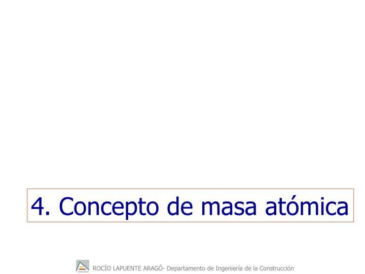 4. Concepto de masa atómica