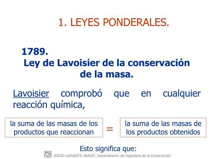 1. LEYES PONDERALES.