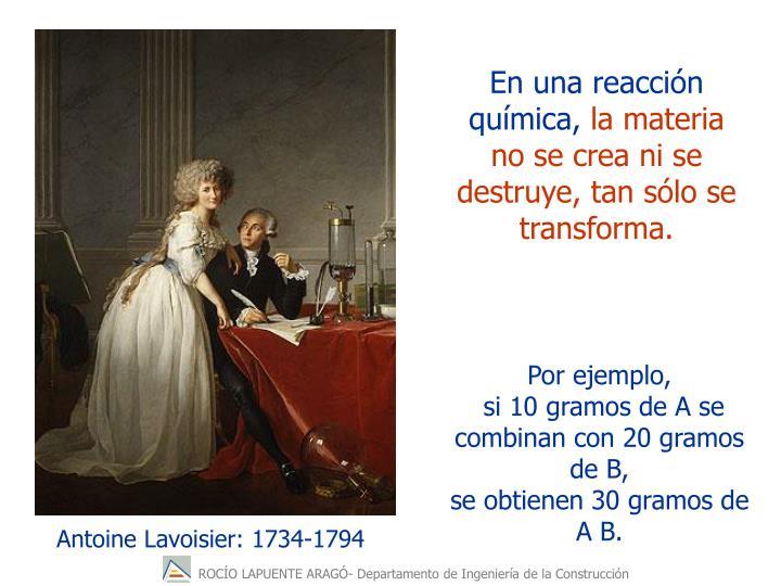 Antoine Lavoisier: 1734-1794