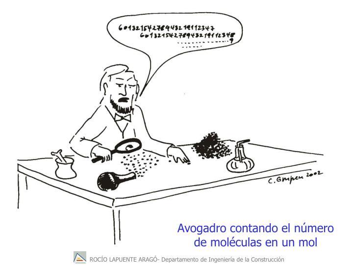 Avogadro contando el número de moléculas en un mol