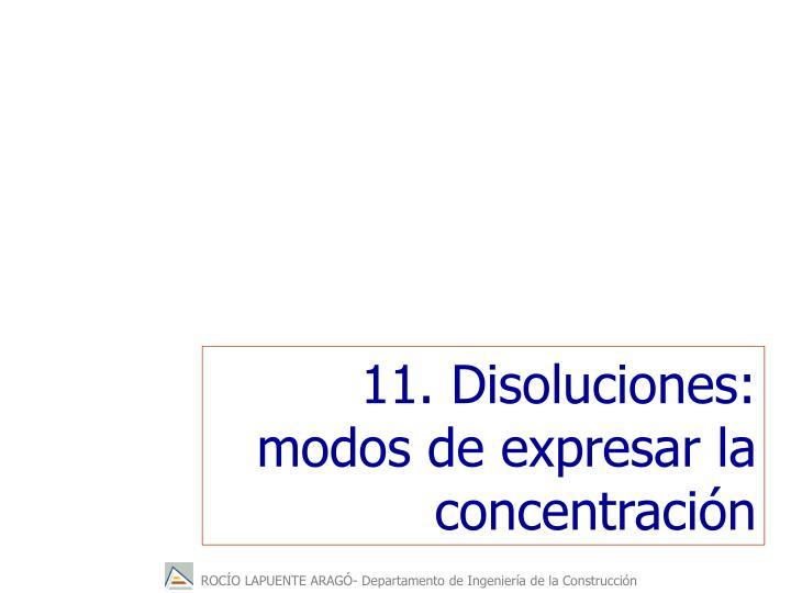 11. Disoluciones: