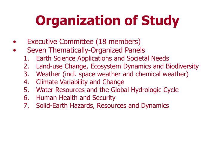 Organization of Study