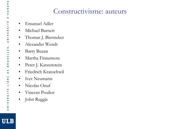 Constructivisme: auteurs