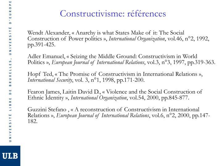 Constructivisme: références