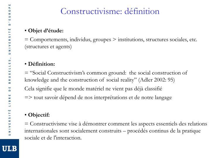 Constructivisme: définition