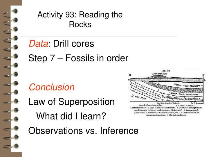 Activity 93: Reading the Rocks