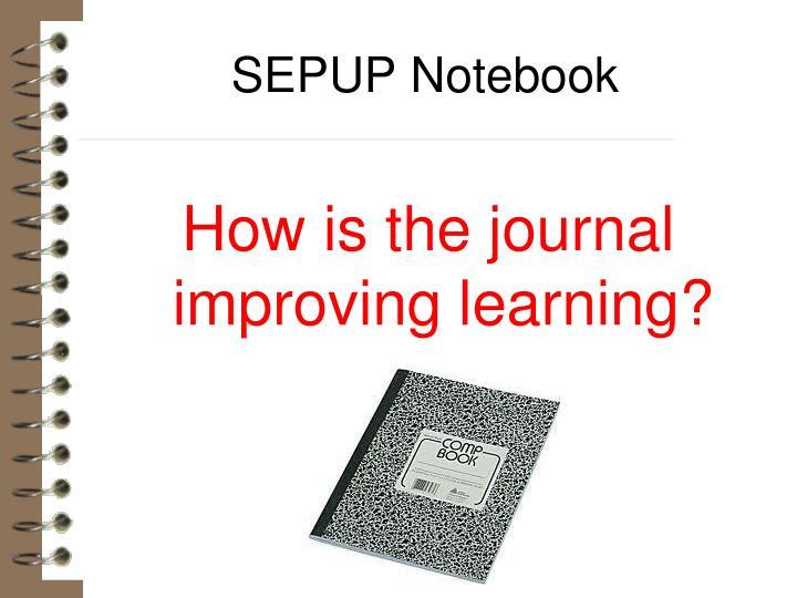 SEPUP Notebook