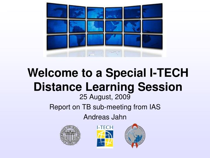 25 august 2009 report on tb sub meeting from ias andreas jahn