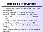art as tb intervention