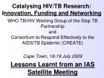 catalysing hiv tb research innovation funding and networking