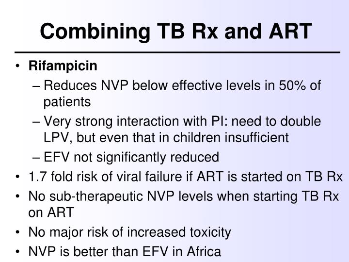 Combining TB Rx and ART
