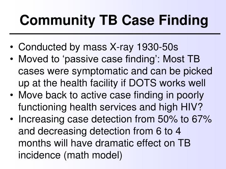 Community TB Case Finding