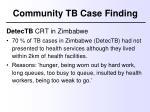community tb case finding2