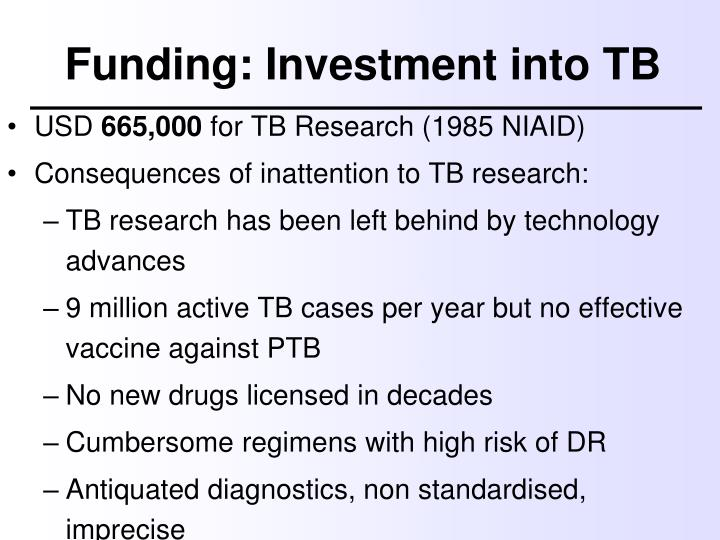 Funding: Investment into TB