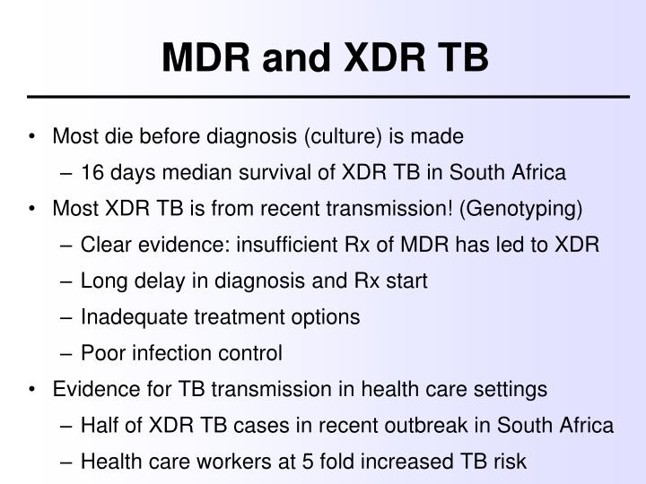 MDR and XDR TB