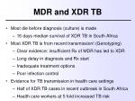 mdr and xdr tb4
