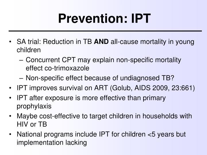 Prevention: IPT