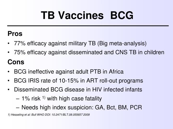 TB VaccinesBCG