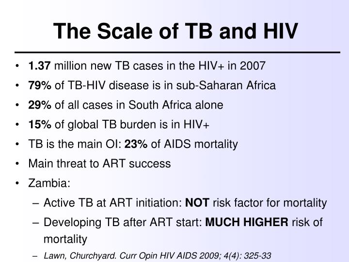 The Scale of TB and HIV