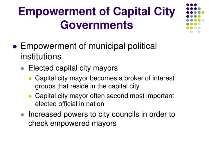 Empowerment of Capital City Governments