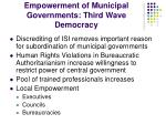 empowerment of municipal governments third wave democracy