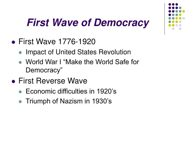 First wave of democracy