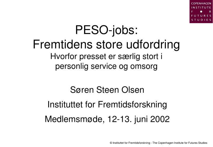 PESO-jobs: