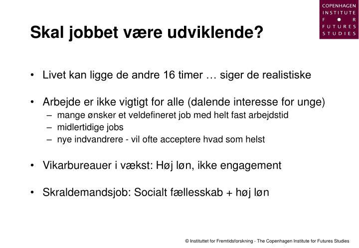 Skal jobbet være udviklende?