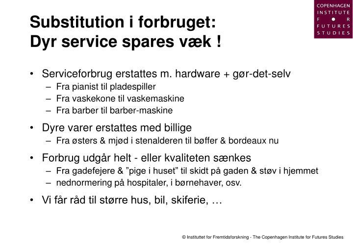 Substitution i forbruget: