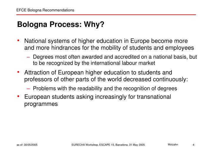 Bologna Process: Why?