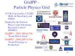 gridpp particle physics grid