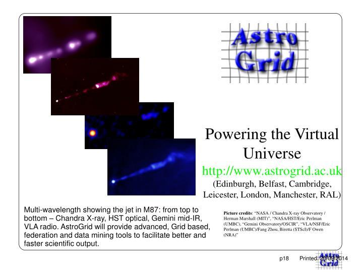 Powering the Virtual Universe