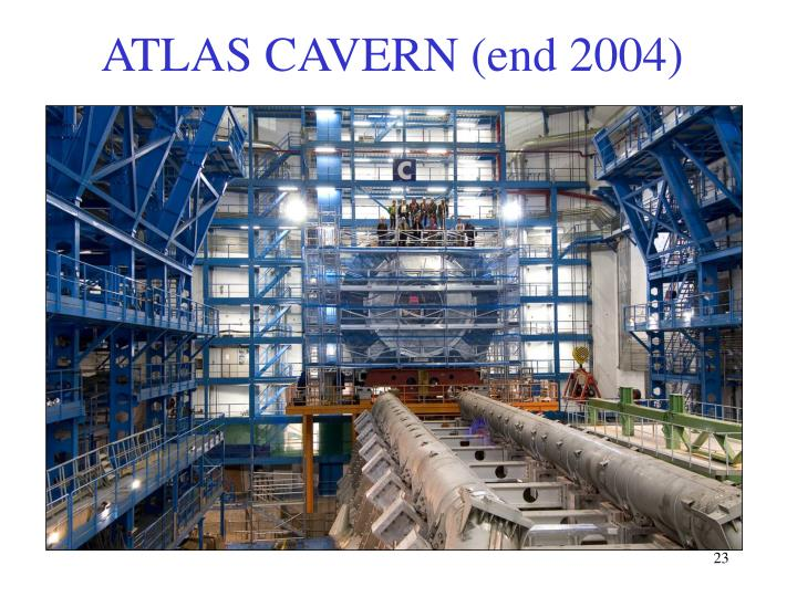 ATLAS CAVERN (end 2004)