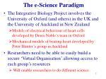 the e science paradigm