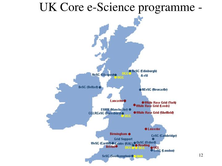 UK Core e-Science programme -