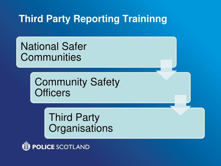 Third Party Reporting Traininng