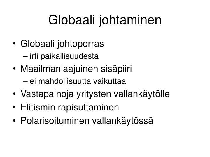 Globaali johtaminen
