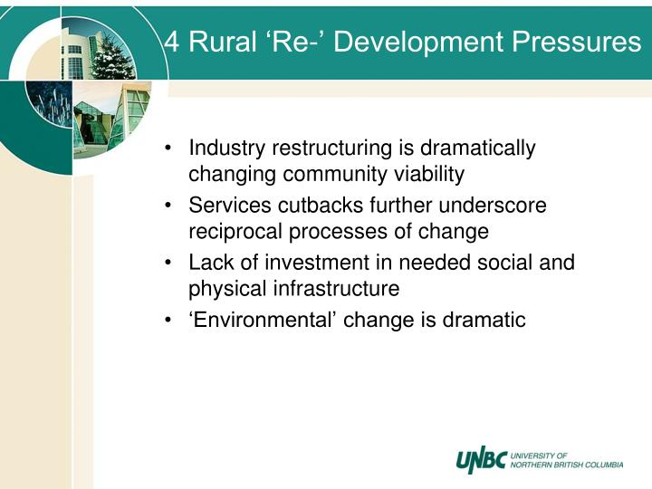 4 Rural 'Re-' Development Pressures