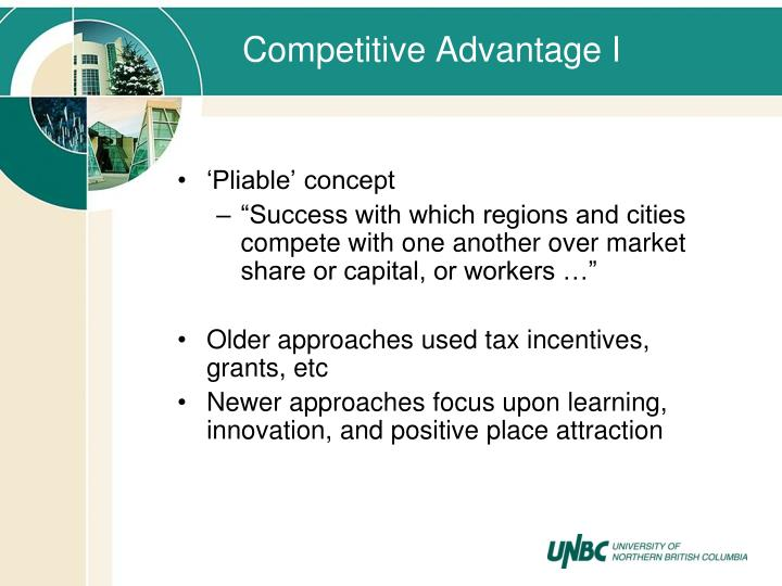 Competitive Advantage I