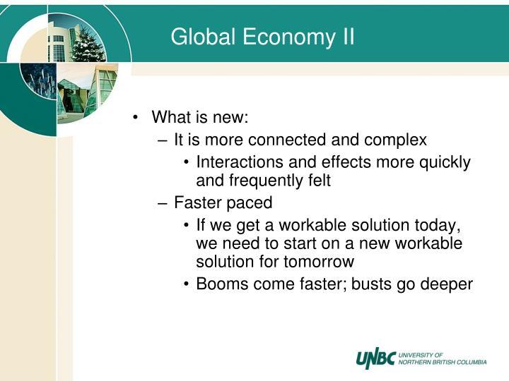 Global Economy II