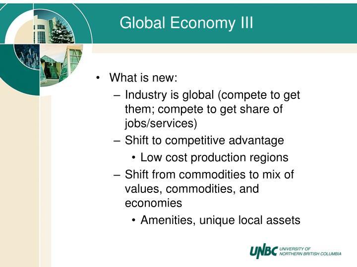 Global Economy III